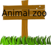 Animal Zoo Sign Clip Art