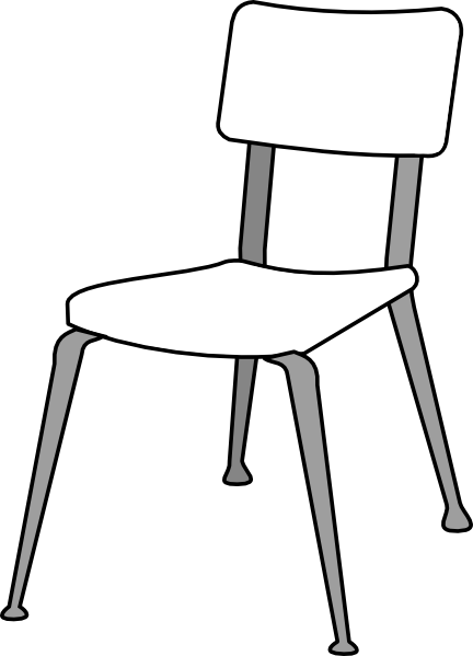 Classroom Furniture Dwg ~ White classroom chair clip art at clker vector