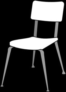 White Classroom Chair Clip Art At Clker Com Vector Clip