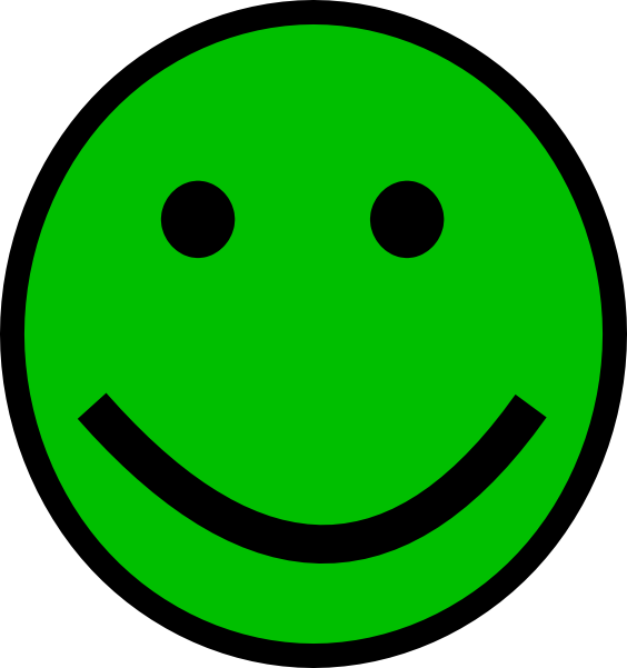 Green Smiley Face Clip Art at Clker.com - vector clip art ...