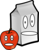 Apple And Milk Clip Art
