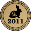 Chinese New Year Emblem Rabbit Clip Art