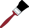 Paintbrush With Red Handle Clip Art