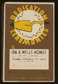 Dedication Ceremonies--ida B. Wells Homes ... Parade Along South Parkway ... Chicago Housing Authority  / Ag. Clip Art