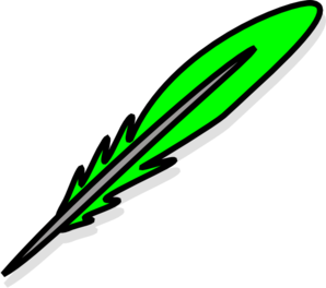 Green Feather Clip Art