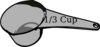 1/3 Cup Measuring Cup Clip Art