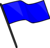 Capture The Flag Blue Clip Art