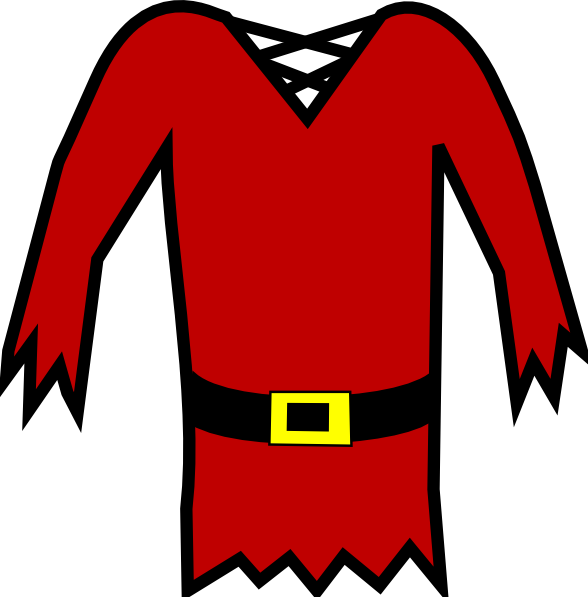 Red Pirate Shirt Clip Art at Clker.com