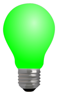 Light Bulb Full-green W/o Fillament Clip Art