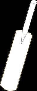 Cricket Bat Outline Clip Art At Clker Com Vector Clip