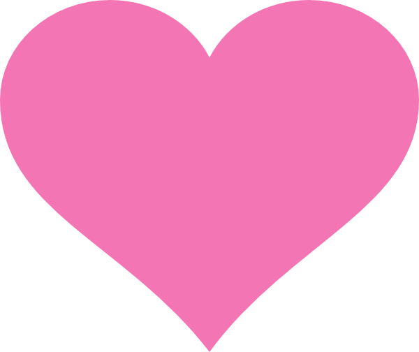 Pink Heart Clip Art at Clker.com - vector clip art online ...