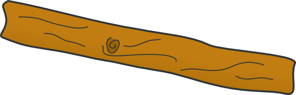 Wooden Plank Cartoon ~ Rotated plank clip art at clker vector