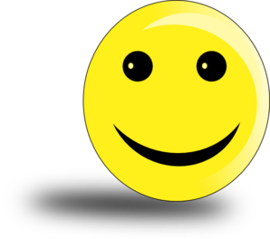 Smiley With Shadow Clip Art