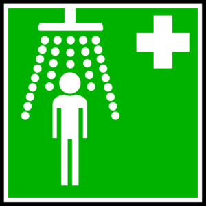 Green Hospital Cross With Man Clip Art