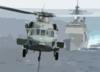 An Mh-60s Nighthawk Delivers A Palette Of Cargo To The Flight Deck Aboard Uss Enterprise (cvn 65). Clip Art