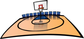 Cartoon Basketball Court Clip Art