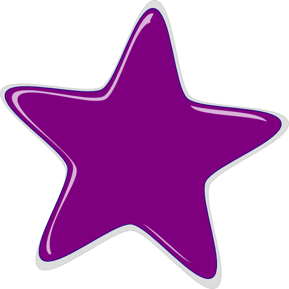 Purple Star Clip Art At Clker Com Vector Clip Art Online