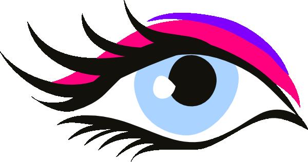 occhio innamorato pink long lash clip art at clker - vector