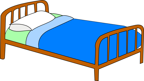 colored bed clip art at clker com vector clip art online hospital bed clipart black and white hospital bed clip art free