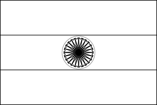 India Flag Black