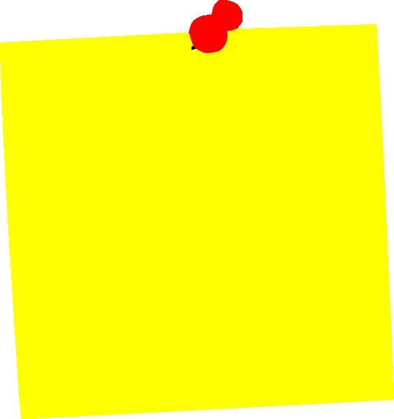 Yellow Post It Clip Art at Clker.com - vector clip art ... - photo#40
