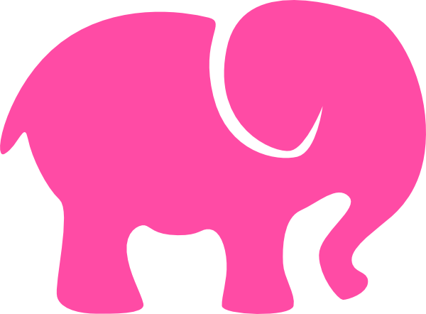pink elephant clip art at clker com vector clip art mom and baby fox clipart mom dad and baby clipart