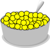 Bowl Of Yellow Cereal  Clip Art