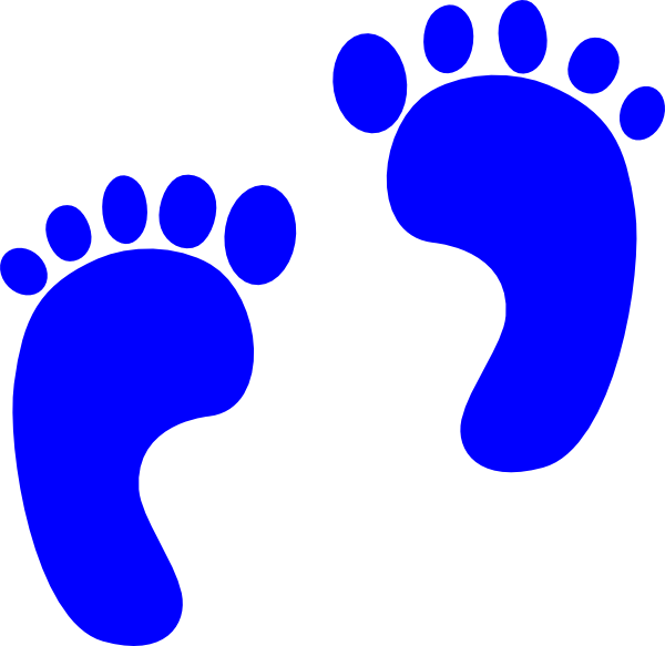Blue Baby Footprints Clip Art at Clker.com - vector clip ...