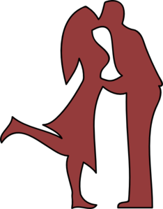 Kissing Couple Clip Art