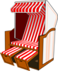 Beach Chair With Striped Awning Clip Art