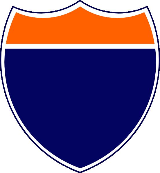 blank interstate sign orange navy clip art at clkercom