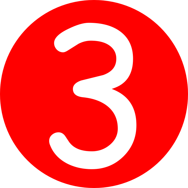Red  Rounded With Number 3 Clip Art At Clker Com