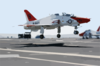 A T-45 Goshawk Lands On The Flight Deck Aboard Uss John C. Stennis (cvn 74) Clip Art