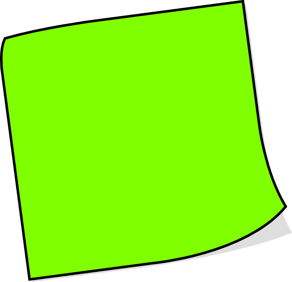 Neon Green Sticky Note Clip Art at Clker.com - vector clip ...