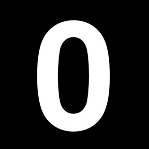 Number 0 Black Clip Art At Clker Com Vector Clip Art Online Royalty Free Public Domain