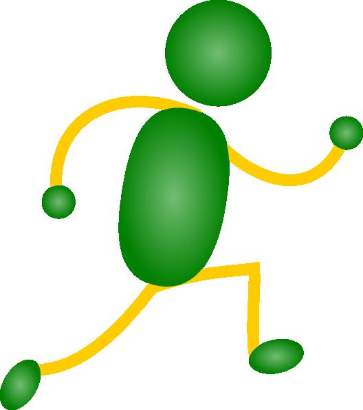 Green&yellow Jogging Man Clip Art at Clker.com - vector ...