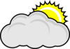Partly Cloudy With Sun Clip Art
