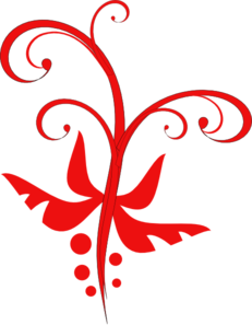 Red Decorative Flourish Clip Art
