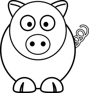 cartoon pig black and white clip art at clker com vector smiling face clip art images happy face free clipart