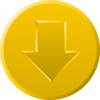 Golden Download Button Clip Art