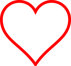 Red Heart Outline Clip Art