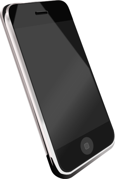 Modern Cell Phone Clip Art at Clker.com - vector clip art ...