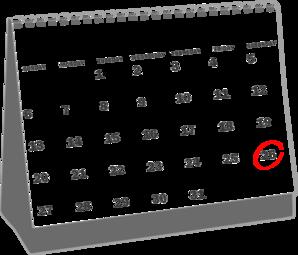 april 2013 desk calendar clip art at clker com vector clip art rh clker com april 2018 calendar clipart April Borders Clip Art