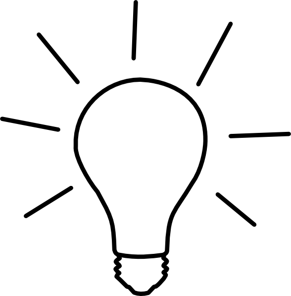 Idea Light Bulb Clip Art at Clker.com - vector clip art ...