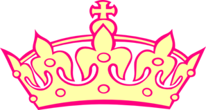 Cream And Pink Tiara Clip Art