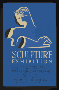 Sculpture Exhibition A Survey Of Work Produced By Artists In The Sculpture Division Of The Wpa Federal Art Project. Clip Art