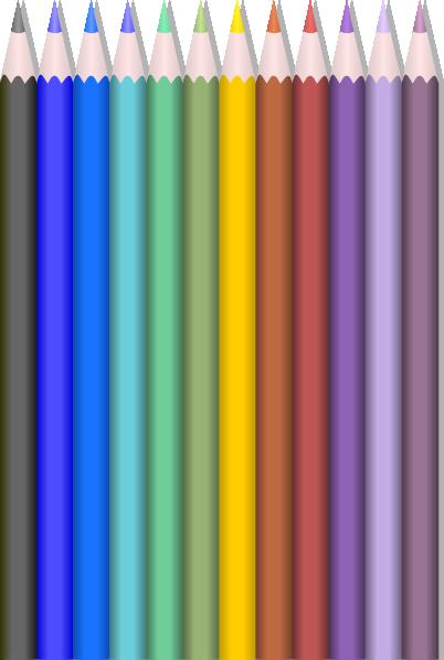 colored pencils clip art at clkercom vector clip art