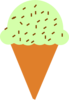Ice Cream Cone With Sprinkles Clip Art