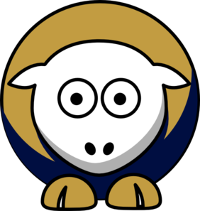 Sheep Akron Zips Team Colors - College Football Clip Art