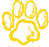 Wildcat Paw Golden Clip Art